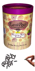 EarthPods Annual Perennial Blooming Flowers Organic Plant Food Fertilizer Spikes