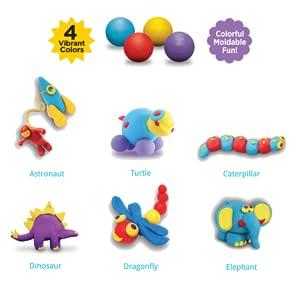Kids play juego de modelización de moldeo de la pasta Doh Dinosaurio Formas Moldes Rodillo