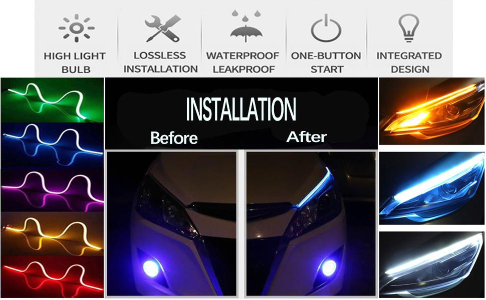 Car LED Headlight Strip