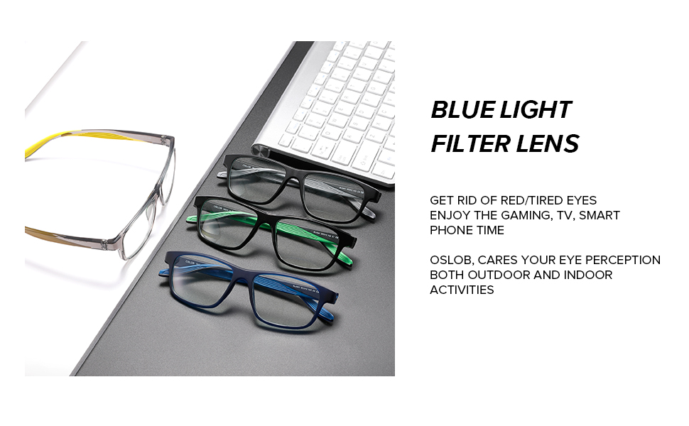 BLUE LIGHT FILTER LENS protect eyes away from the screens harmful blue rays, more comfortable wear