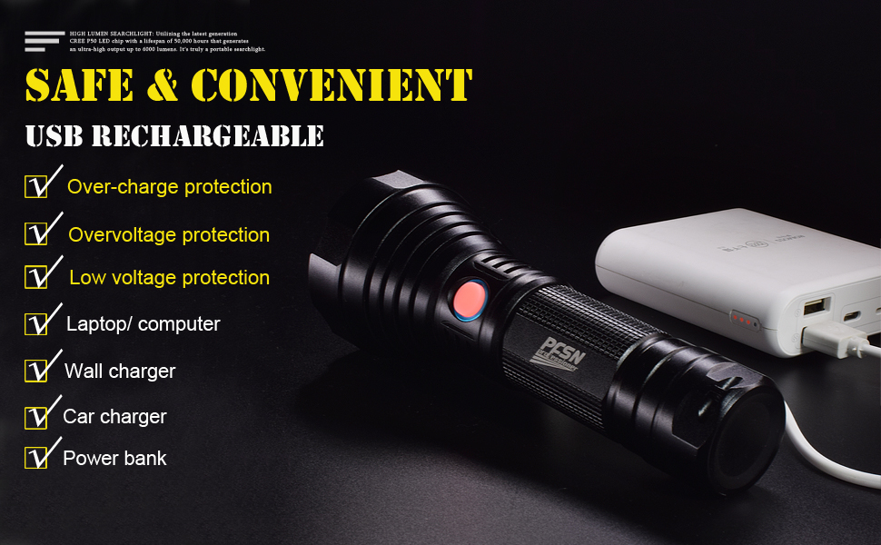 usb rechargeable flashlight powerful flashlights super bright flashlight best flashlight torch light