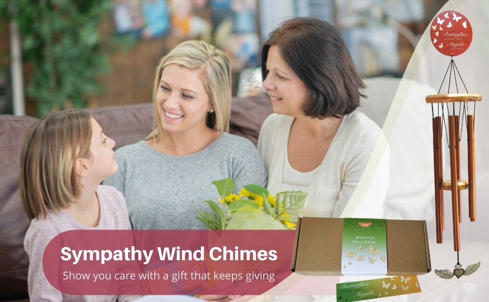 Sympathy Wind Chime, Memorial Wind Chime for Loss of Loved Ones - family giving gifts