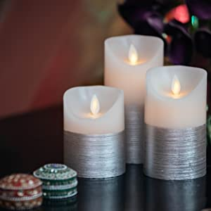 silver bedroom candles