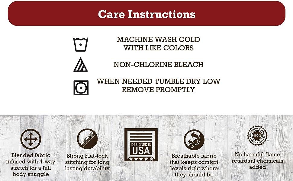 Pajama Wash Instructions