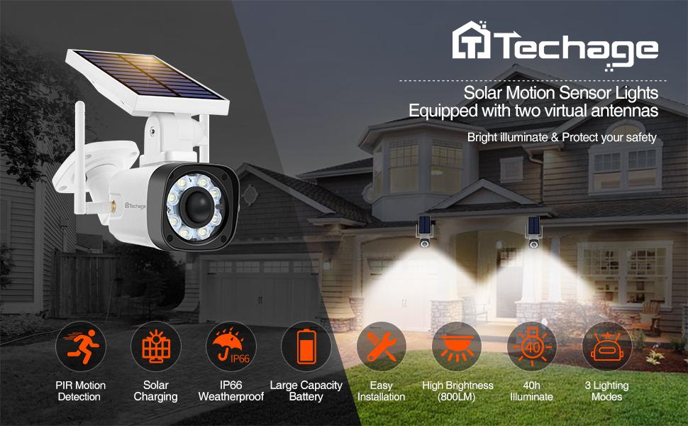 techage solar light