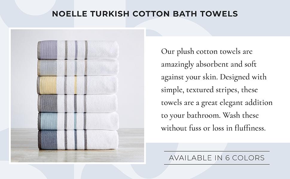noelle turkish cotton bath towels