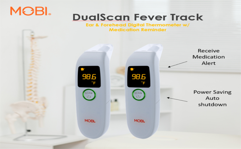 DualScan  Digital Ear & Forehead thermometer  offers easy to read, reliable & results in seconds