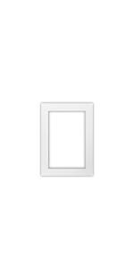 5 x 7 inch white single matte