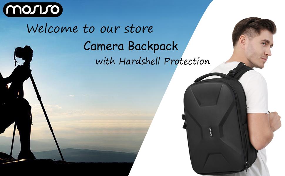 15.6 inch Camera Hardshell Backpack