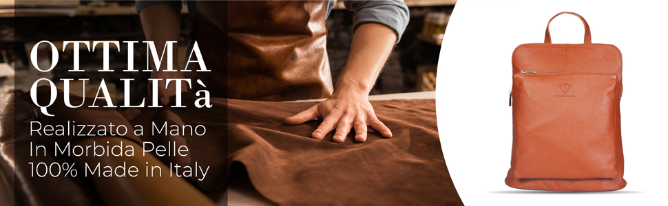 Zaino Pelle Donna Ottimà Qualità Hand Made 100% Made in Italy