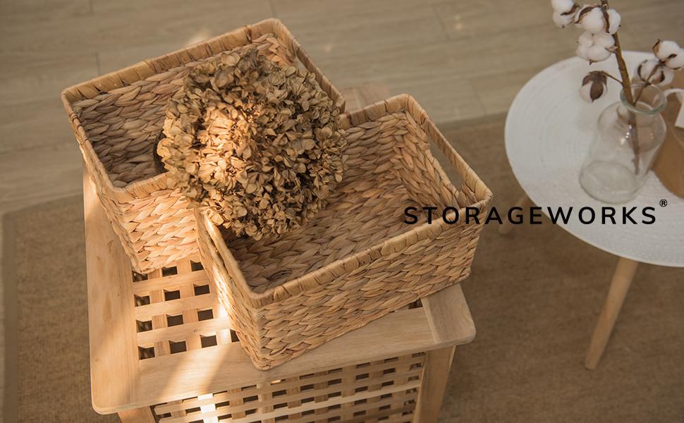 storageworks wicker basket