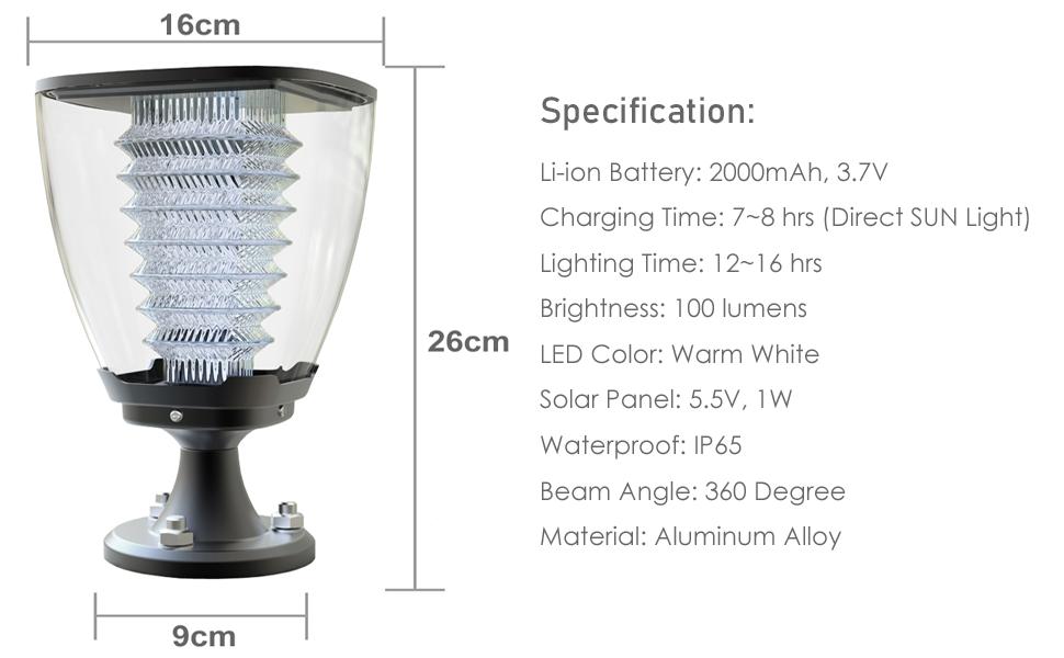IFITech solar light, garden light, pillar light, pathway light, street light, wall light