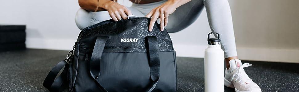 vooray large duffel bag sport duffel gym bag wet clothes cute premium daily women girls yoga stretch