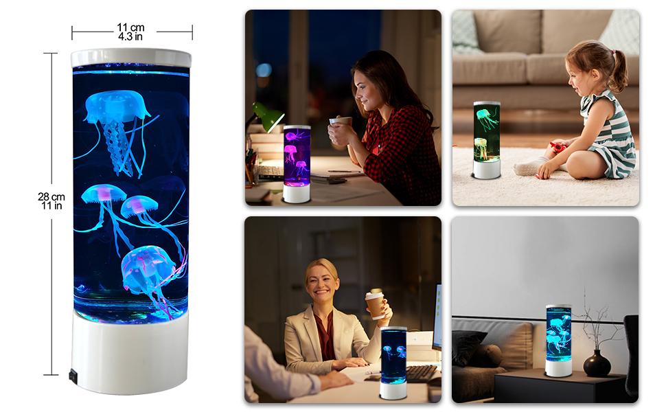 Jellyfish Lava Lamp Multi-Color Changing Aquarium Night Light