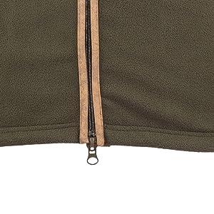 Full length double puller zip