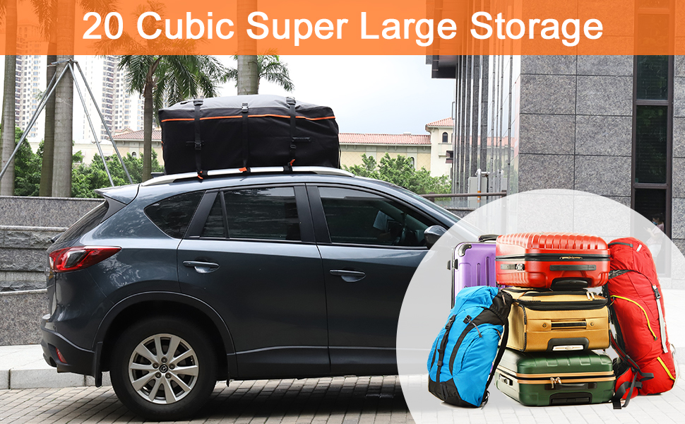 20 Cubic Rooftop Cargo Carrier