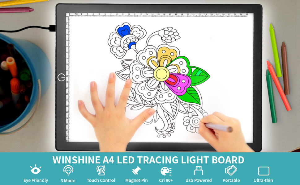 light board A4 Tracing for Kids