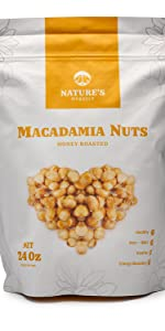 Nature's Morsels Honey Roasted Macadamia Nuts