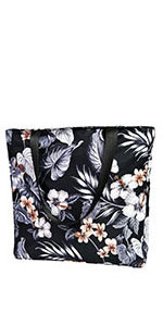 flroal beach bag