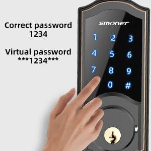 anti-theft smart door lock for front door