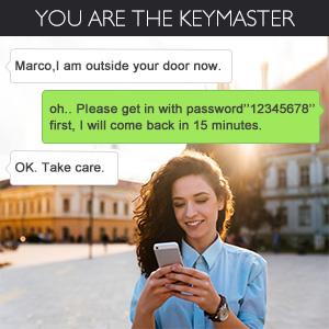 smart lock  AKASO Smart Lock Touch Screen Keypad Deadbolt APP Code Entrance Smart Electronic Digital Door Lock with Key Remote Keypad for Home Hotels Apartment 4902dbd0 cb88 40b9 ba00 2177278e1692