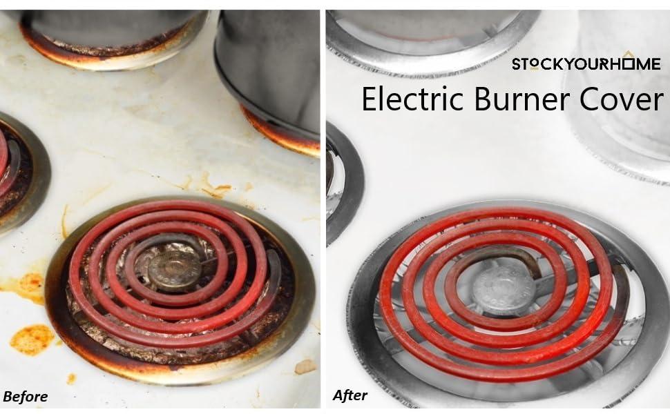 Electric Stove Burner Covers (50 Pack) – Electric Stove Bib Liners - Disposable Aluminum Foil