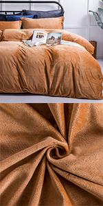 NTBAY Velvet Flannel Duvet Cover Set