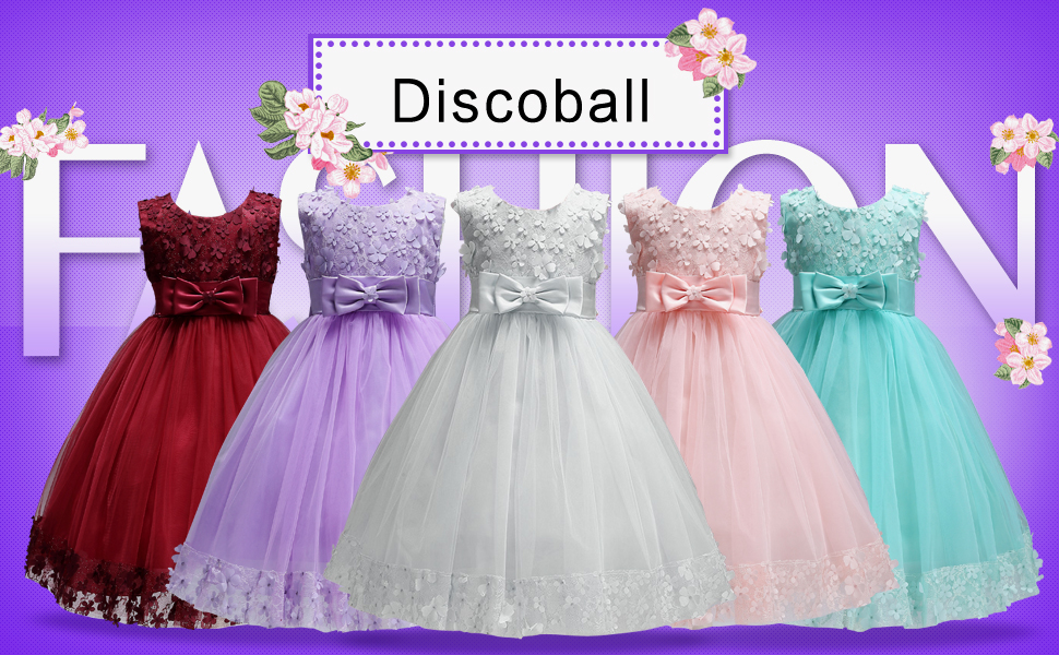 Purple Flower Girls Baby Floral Dress Christmas Wedding Party Holidays New 380