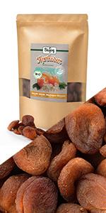 abrikozen gedroogd geheel fruit ongezoet geen suiker suikervrij zonder  helften ontpit rauw brood