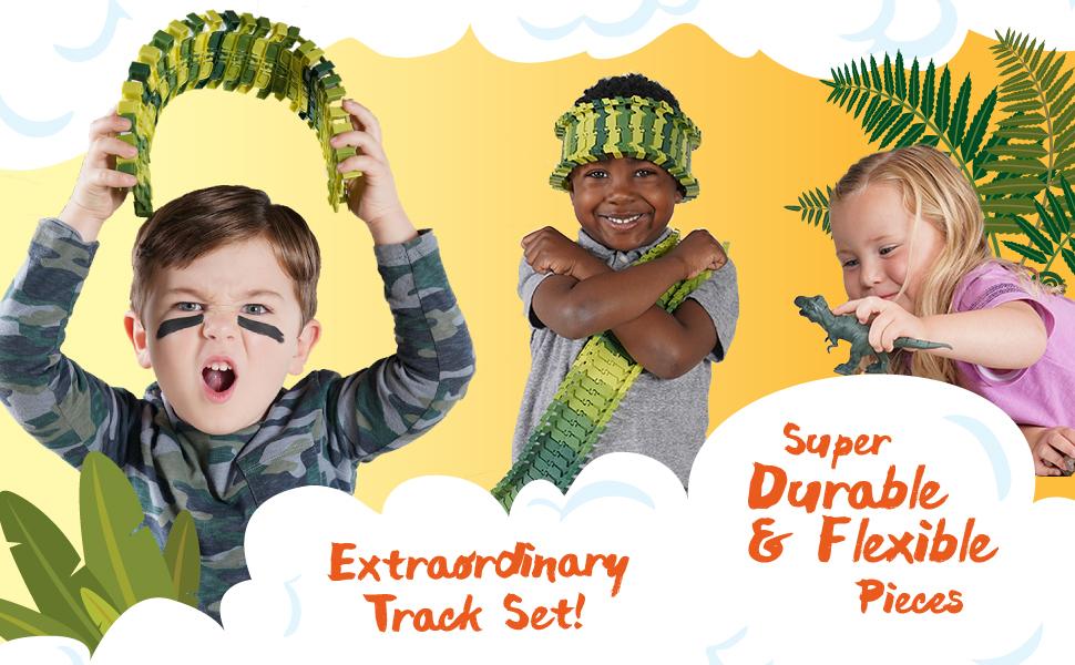 dinosaur toys jurassic park jurassic wold race tracks for boys stem learning dinasors toys for boys