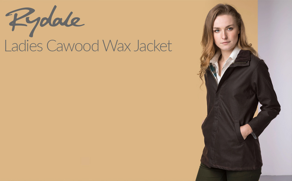New Mens Wax Jacket Rydale Cawood Waxed Cotton Work Coat for Walking /& Shooting