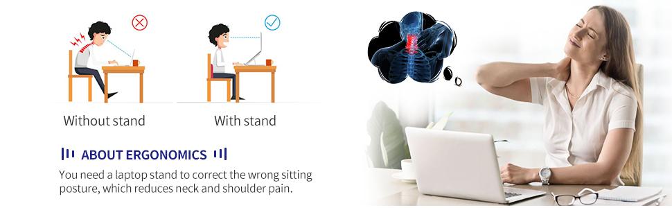 laptop stand for desk height adjustment laptop holder riser folded notebook support