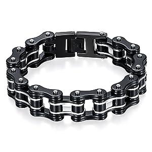 Schwarz/Silber Fahrradkette