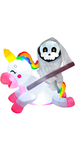 5 ft Reaper Ride on Unicorn Inflatable