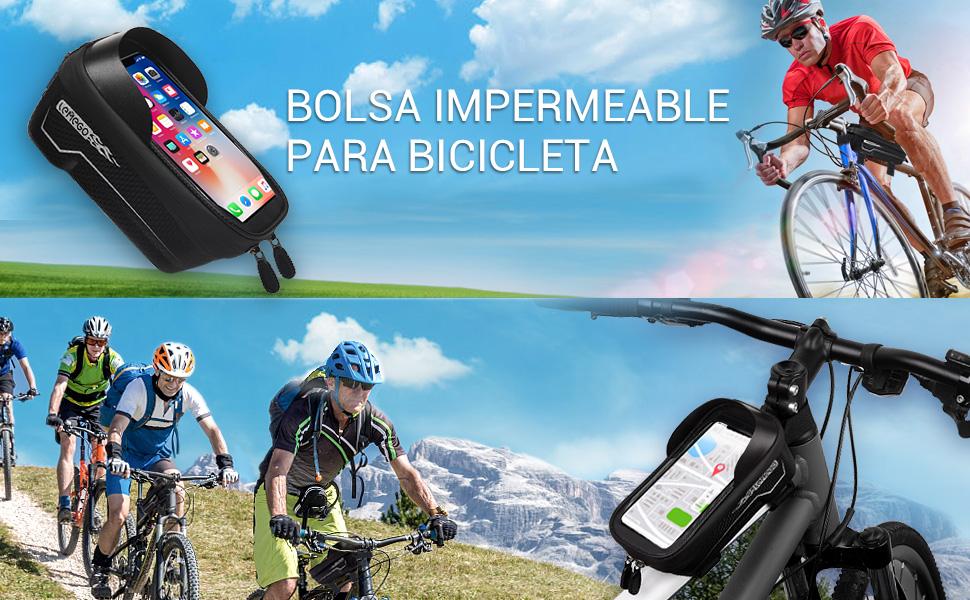 LEMEGO Bolsas de Bicicleta, Bolsa Impermeable para Bicicleta ...