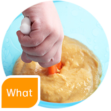 what dipping puree soft food solids baby gootensils numnum baby led weaning blw