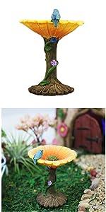 fairy garden miniature birdbath figurine statue outdoor indoor