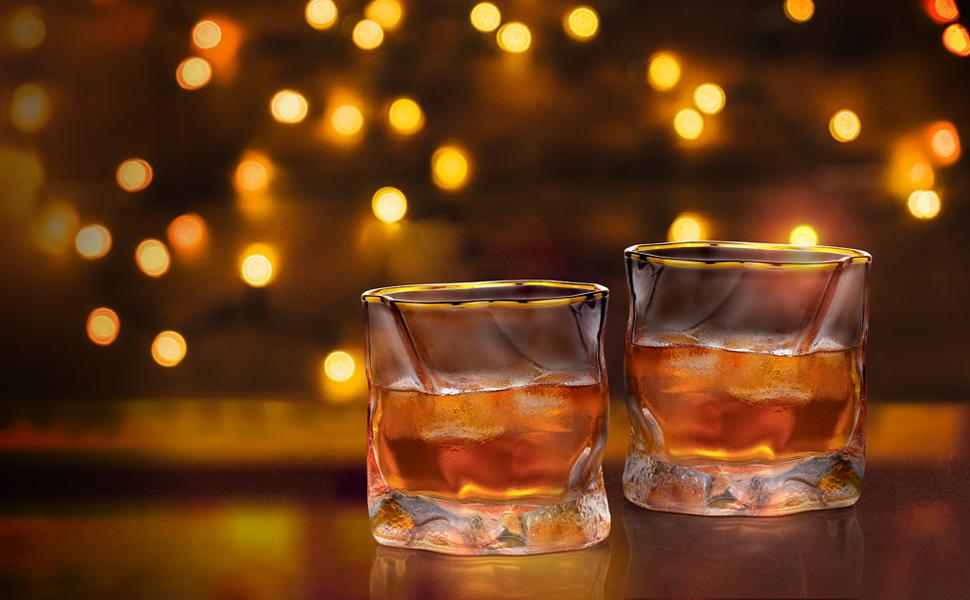 set of 2 whiskey glass