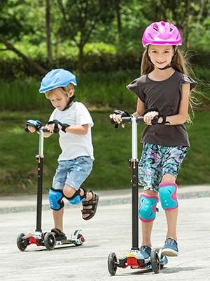 Profun Patinete 3 Ruedas Patinete Niño Scooter con 4 Ruedas Flash Patinete Niña con Luces Altura de Manillar Ajustable de 77CM a 87CM Ideal para Niños ...