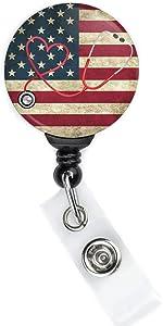 USA Flag Badge Reel