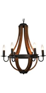 Wooden Farmhouse Light