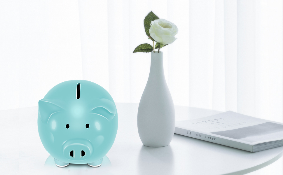White Child to Cherish Ceramic Pig Piggy Banks Money Bank Coin Bank for Boys Kids Girls Koicaxy Piggy Bank