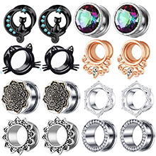Ear tunnels and plugs