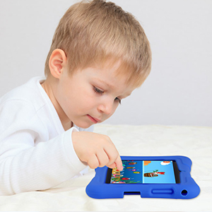 Learning&Playing Tablet - Pritom 7 Inch Kids Tablet, Quad Core Android,1GB RAM+16GB ROM, WiFi,Bluetooth,Dual Camera, Educationl,Games,Parental Control,Kids Software Pre-Installed With Kids-Tablet Case (Dark Blue)