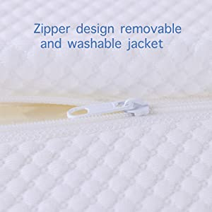 side sleeper pillow with washable pillow case made form cotton