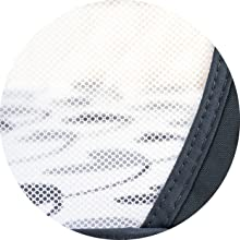 Breathable mesh in the open side of the baby co sleeper