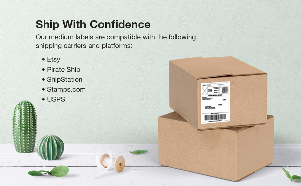 compatible shipping carriers mailing labels
