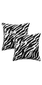 Zebra pillow covers 18x18