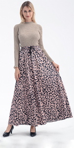 Drawstring Leopard Skirt
