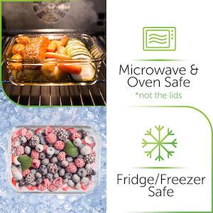 Microwave safe, oven safe
